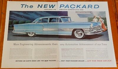 1955 Packard Patrician Sedan In Blue Sharp Large Ad - Retro American Car 50S