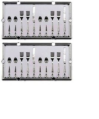 Dollhouse Miniatures 1:12 Scale Table Setting Silverware 20Pc #IM65171