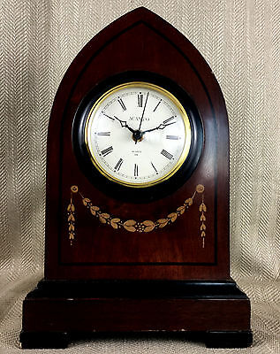 Luxury Mantle Clock Wooden Victorian Gothic Antique Style