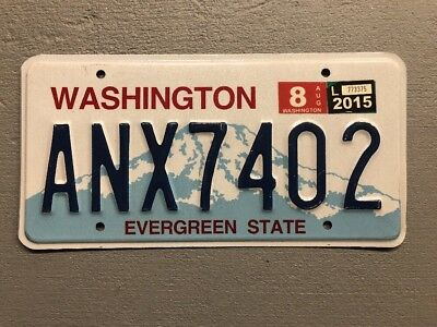 Washington *evergreen State * License Plate  Random Letters/numbers