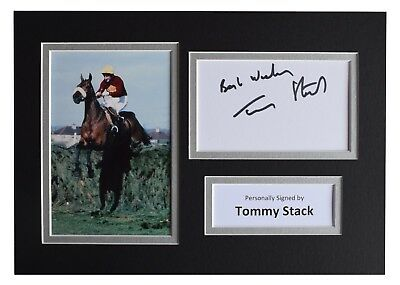 Tommy Stack Signed Autograph A4 photo display Red Rum Grand National AFTAL  COA