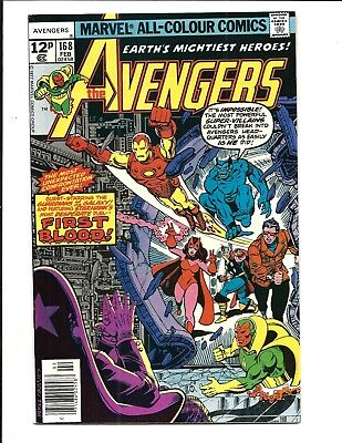 Avengers # 168 (Guardians Of The Galaxy, George Perez, Feb 1978), Vf+