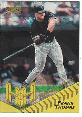 1996 Pinnacle Hardball Heroes Starburst #157 Frank Thomas Chicago White Sox