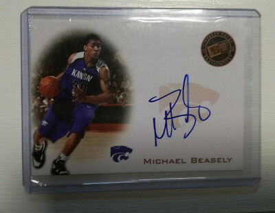 Press Pass Authentics MICHAEL BEASELY on Card Auto