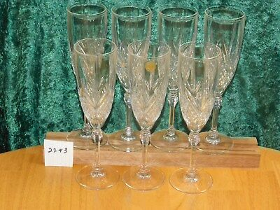 7 Chesnay Cristal D' Arques-Jddurand Champagne Flutes