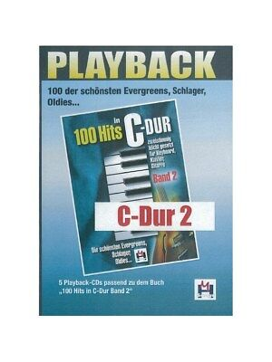 100 Hits In C-Dur Band 2 5 Playback-CDs Recorded Performance Voice MUSIC CD