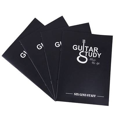 Blank Guitar Tablature Training Book Six Line Exe rcise Book 24 Page Two Side BU