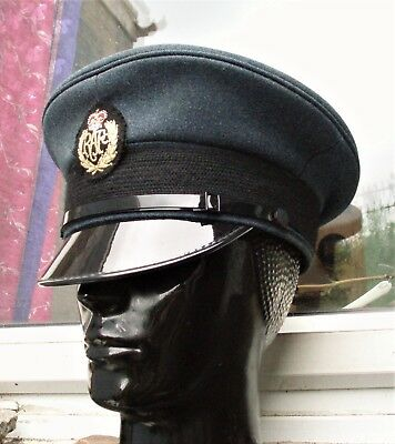 379a4babed2 56 M RAF ROYAL AIR FORCE PEAKED CAP HAT military Pilot AIRMAN s Visor  CosPlay