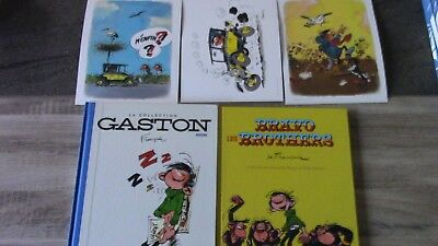 Lot GASTON LAGAFFE  La Collection  Dos toilé bleu T1 à T7 + 3 Livres Hors-Série