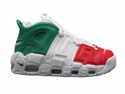 brand new 764a3 cfa41 Nike Air More Uptempo  96 Italy Qs Sneakers Verde Bianco Rosso Av3811-600