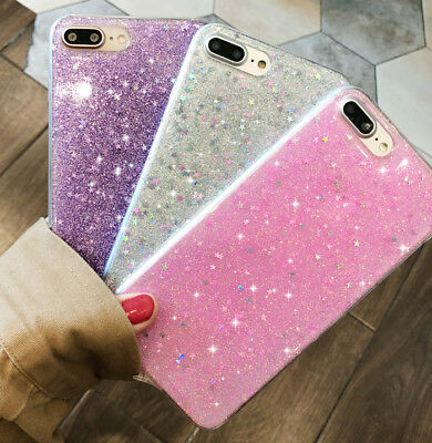 Shining Silicone Bling Glitter Shockproof Case Phone Cover for iPhone 6s 7 Plus