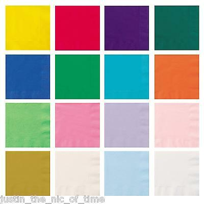 Paper 33cm NAPKINS Party Tableware Plain Solid Colours Events Catering 20 - 120