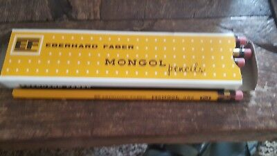 Box of a Dozen Unused Vintage Eberhard Faber No. 482 No. 2 Mongol Pencils