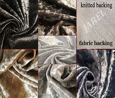 Premium Crushed Velvet Upholstery Fabric - Soft Flexible Curtains Cushions Chair