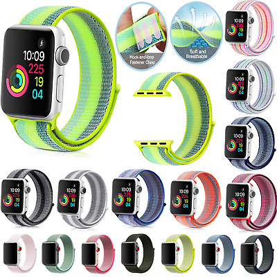 NEW Sport Loop Woven Nylon Belt Bracelet Band Strap For APPle Watch Series 3/2/1