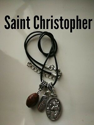 Code 368 Safe Travel Saint Christopher infused Necklace Holiday Plane Boat Break