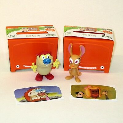 Nickelodeon Ren and Stimpy Mini Series 1 Figures Lot With Stickers Shown