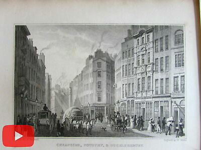 London streets horse drawn carts & carriages 1829 lot x 25 old prints engraved