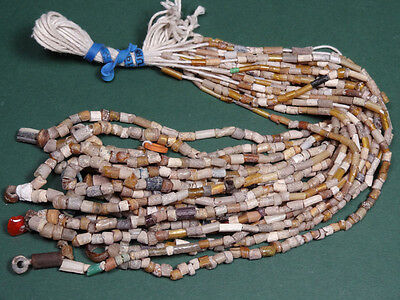 10 Ancient Glass Bead Necklaces ( Gold Sandwich Beads ) Roman 100-300 Ad
