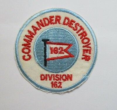 PATCH -  US Navy COMMANDER DESTROYER DIVISION 162 Patch
