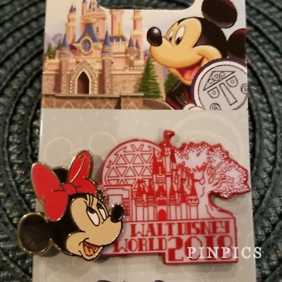 Disney Pin 126765 WDW 2018 Dated Collection Minnie Mouse Walt Disney World Icons