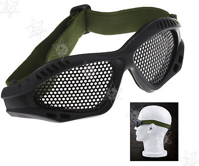 Tactical Military Metal Mesh Goggles Shooting Airsoft Eye Protection Glasses