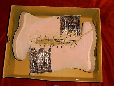 58e80c4e36 UGG Atlason Cream W Frill Waterproof Leather Toscana Winter Boots Sz 5.5  1019188