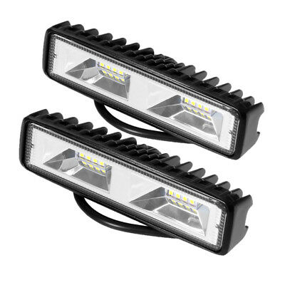 2x 6inch 48W Flood LED Car Off Road Work Light Bar Fog Driving DRL Lamp 12V 24V
