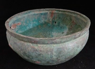 "Rare Ancient Celtic Copper Alloy/Bronze Bowl, 7th -11th c. 9 ¼""wide x 4 ¼"" t."