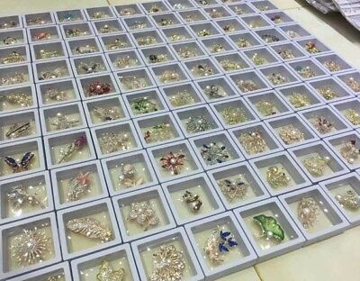 wholesale lots beautiful various style real pearl brooches Q30364