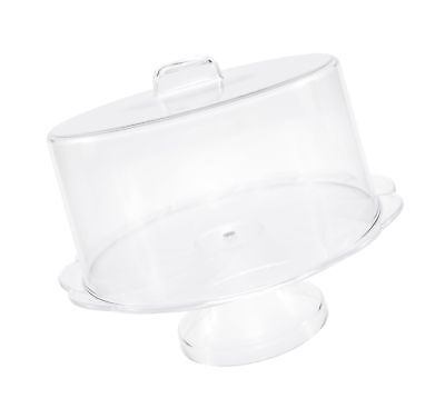 UNBREAKABLE PLASTIC CAKE Stand with Cover, Cake Plate with Dome ...