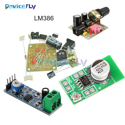 Mini LM386 Audio Power Amplifier Board Module DIY Kit 200 Times Resistance 750mW
