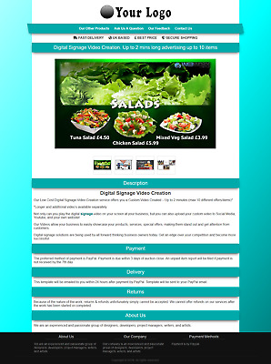 eBay Listing Template With Gallery That Is Mobile Friendly & Responsive
