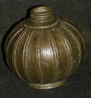 "Antique Indian Ethnic Rare  Bronze ""Betel Lime Box"" Very Rare Collectible #3"