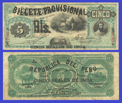 Reproduction Peru 100 centavos 1881 UNC
