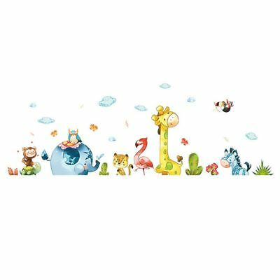 Cartoon Animal Party Wall Stickers Decal Kids Adhesive  Mural Baby Girl Boy ZH6