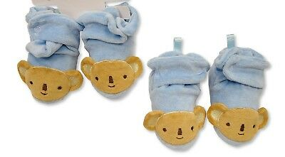 3 Pairs Baby Boys Booties Bundle Gift Blue - Wholesale Job Lot