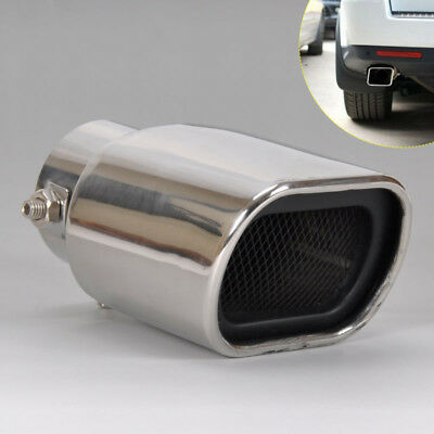 Universal Chrome Stainless Steel Car Rear Exhaust Muffler Pipe Tail Trim Tip New