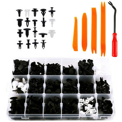 435Pcs Car Body Trim Clips Bumper Retainer Rivets Screw Panel Push Fastener Kit