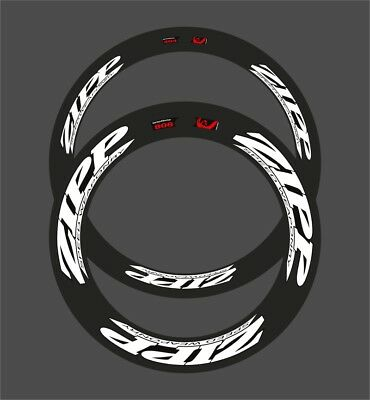 Zipp 404/808 Speed Weaponry Combined Decal Set For Two Wheel  White / Black