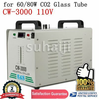 CW-3000 110V Thermolysis Industrial Water Chiller for 60/80W CO2 Glass Tube USA