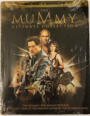 The Mummy Ultimate Collection Blu Ray 6 Disc Set + Slipbox Free World Shipping