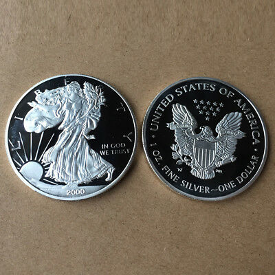 2000 Novelty Statue of Liberty Silver Coin Dollar Collection Commemorative Coin