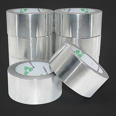 0.08mm Heavy Duty Aluminium Foil Shield Heat Insulation Duct Self Adhesive Tape