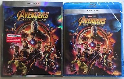 New Marvel Avengers Infinity War Blu Ray + Slipcover Sleeve Walmart Exclusive