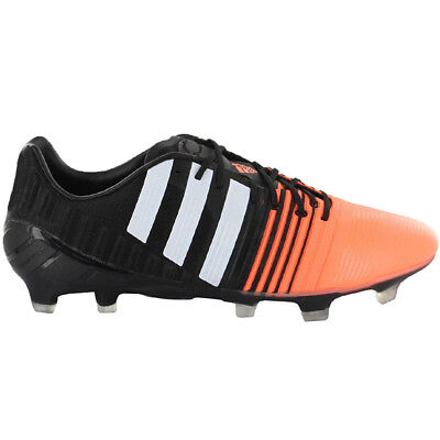 brand new 23165 f6e28 Adidas Nitrocharge 1.0 Fg Noir-Orange Hommes Chaussures de Football Came  Neuf