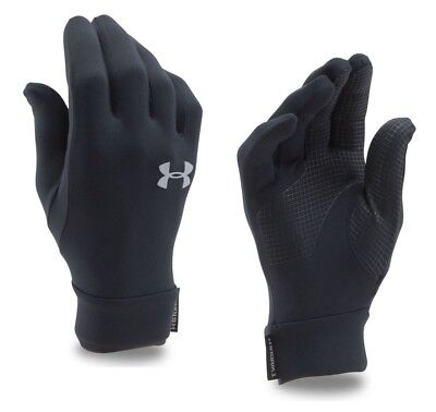 New Under Armour Youth Black Liner Gloves Touch Screen Waterproof and Windproof