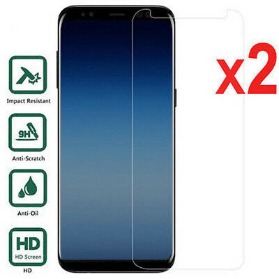 2X For Samsung Galaxy J3 J5 J7 Pro J4 J6 J8  Tempered Glass Screen Protector EU