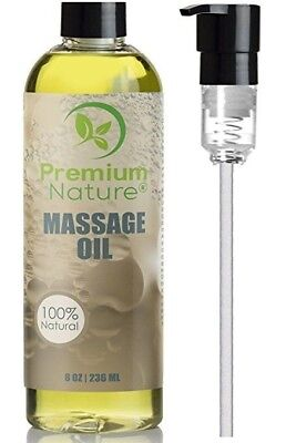Massage Body Oil 8 oz For Skin Essential Oils Aromatherapy Relaxing