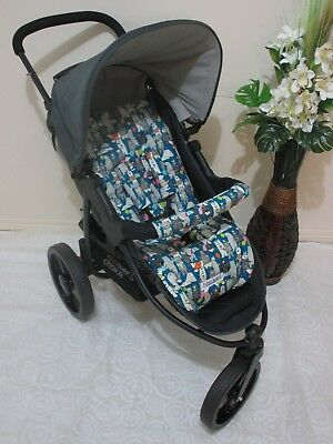 Handmade pram liner set-Party bears -100% cotton*Funky babyz,SALE*